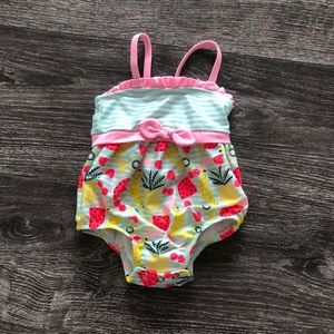Other - Pink teal & yellow pineapple swimsuit